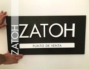 Logo corpóreo ZATOH PDV 70x35 cm